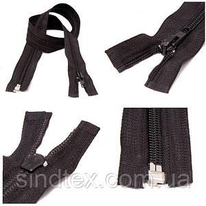 90см-ЧЕРНАЯ спиральная молния для одежды тип 5 (6-2426-В-048)