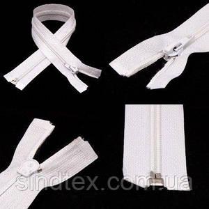 55см-БЕЛАЯ спиральная молния для одежды тип 5 (6-2426-В-026)