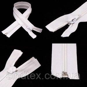 40см-БЕЛАЯ спиральная молния для одежды тип 5 (6-2426-В-016)