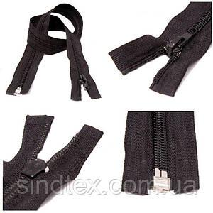 40см-ЧЕРНАЯ спиральная молния для одежды тип 5 (6-2426-В-018)
