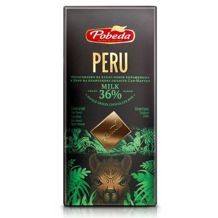 """Шоколад молочный """"Перу"""" 36% какао Победа вкуса, 100г"""