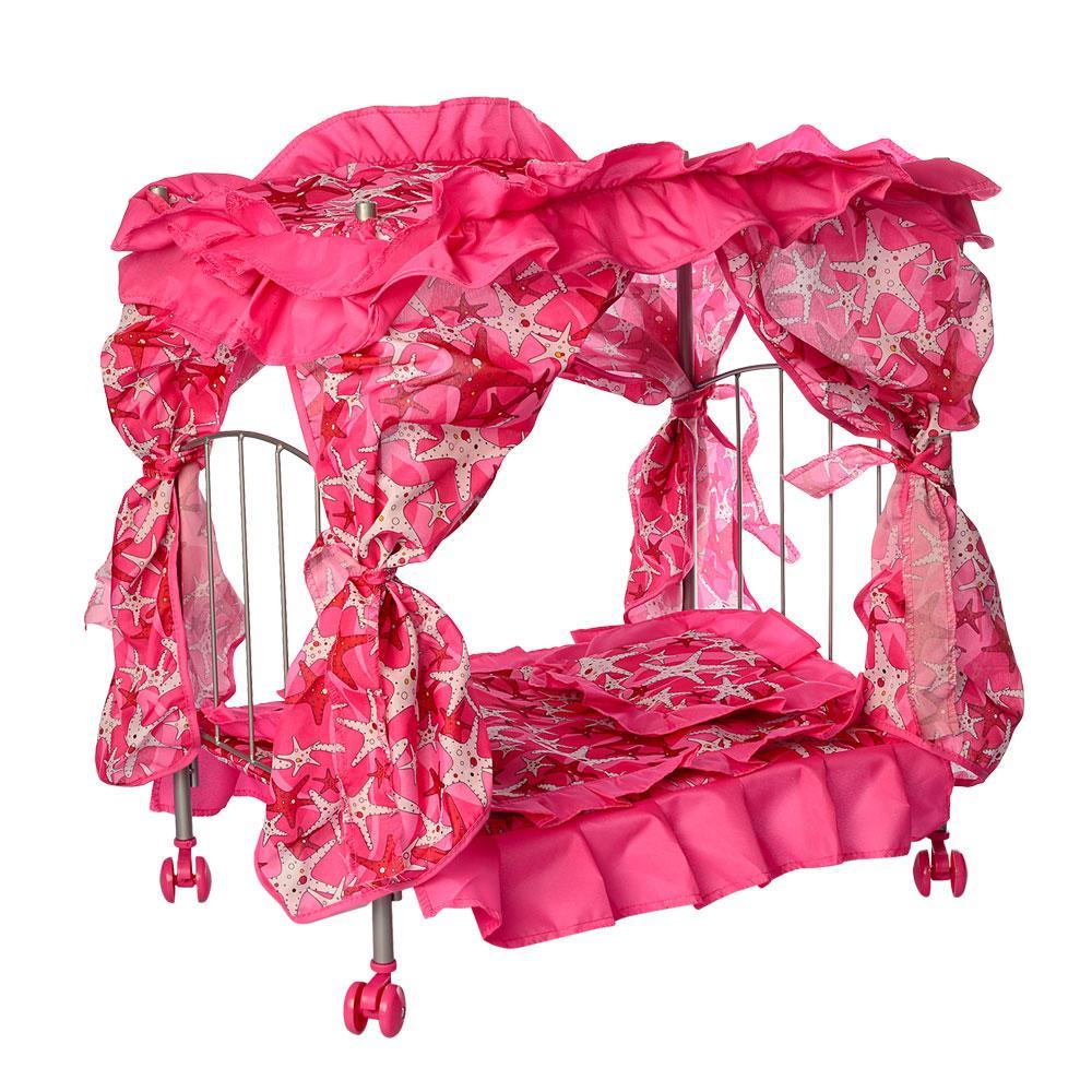 Кроватка кукольная с балдахином