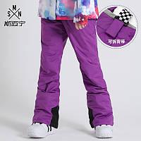 Лижні штани жіночі вітрозахисні, водонепроникний, утеплений одяг для сноуборда 4 кол, фото 1