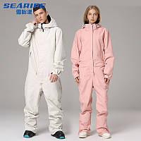 Лыжный костюм цельный,ветрозащитный и непромокаемый, для пары, теплая одежда