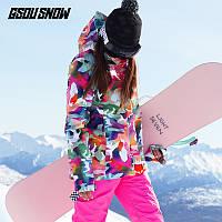 Лыжный костюм GS женский водонепроницаемая, ветрозащитная и утепленная лыжная одежда сноуборд, фото 1