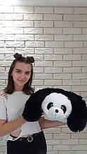Мягкая меховая  подушка  транформер зверюшка панда