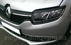 """Вії фар Renault Logan 13- \Sandero 13- """"FLY"""" широка"""