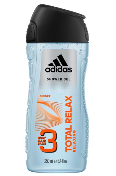 Гель для душу чоловічий 3в1 Adidas Total Relax 250мл.
