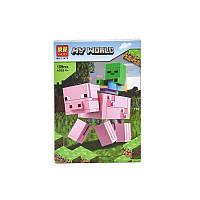 Конструктор Lari Minecraft 11473 Свинья и зомби