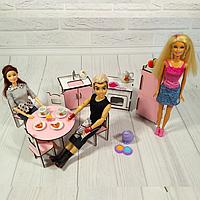 """Набор игровой мебели """"Кухня"""" 8 предметов для куклы Барби Деткам от 2-х лет"""