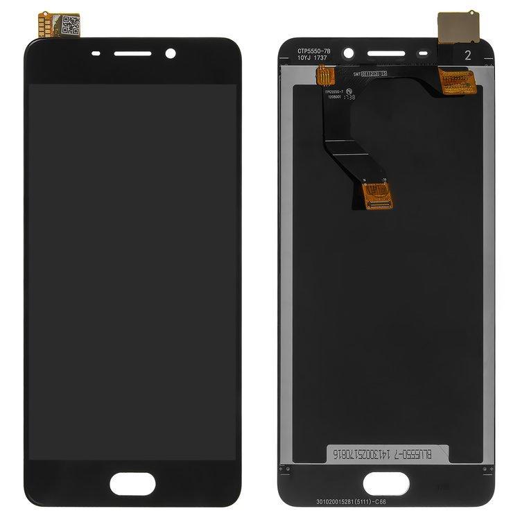 Дисплей (экран) для Meizu M6 Note (M721W) с сенсором (тачскрином) черный Оригинал