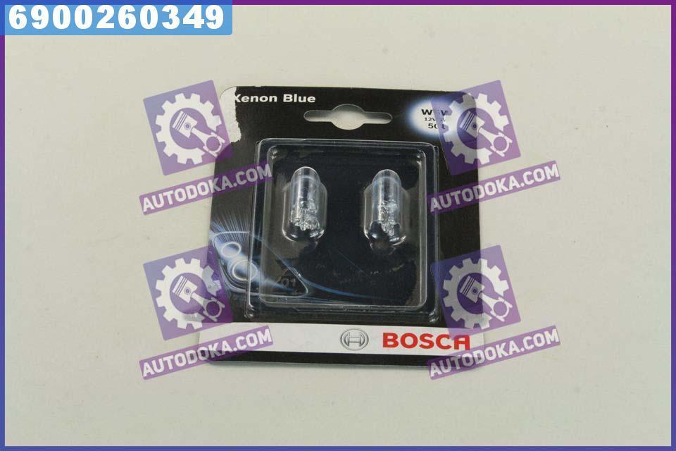 Лампа накаливания W5W 12V 5W Xenon Blue (производство  Bosch)  1 987 301 033
