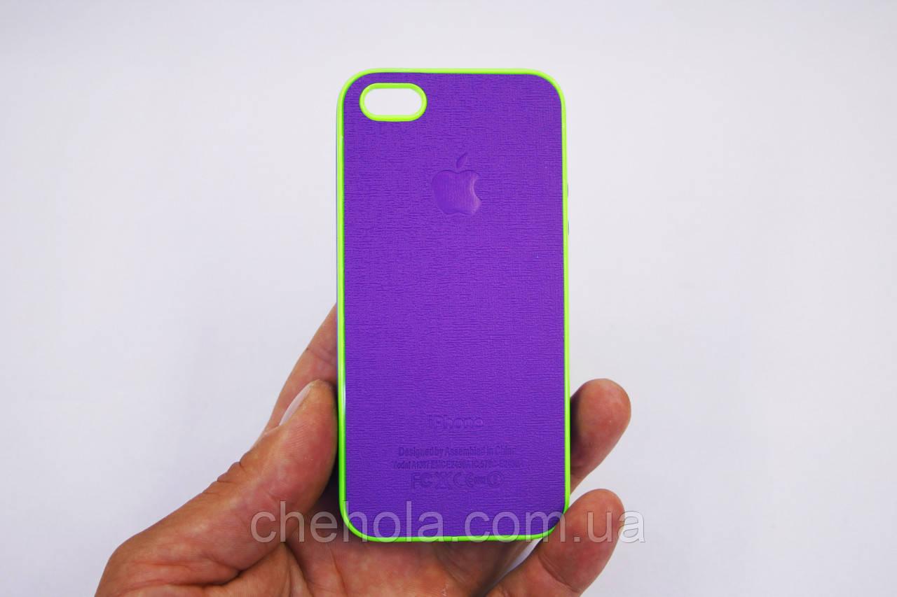 Противоударный Силиконовый чехол для Iphone 5 5S SE Art Фиолетовый