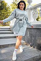 Удобное платье с поясом в спортивном стиле 40-52 размеры разные расцветки