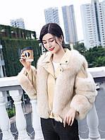 Yixiao Шуба женская, короткая, модная, новинка 2020, зимняя мотоциклетная шуба из натурального лисьего меха, фото 1