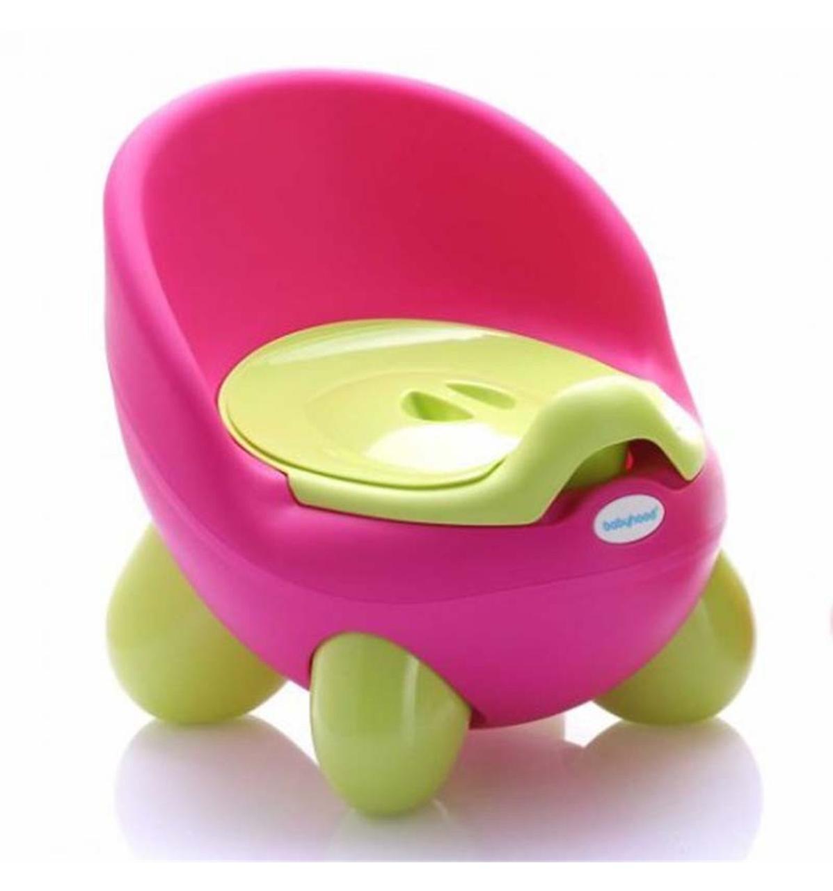Детский горшок Babyhood Кью розово-зелёный (BH-105P)