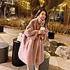 Женская шуба из искусственного меха норки, с воротник-стойка,толстое свободное пальто 2 цвета