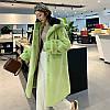 Женская шуба из искусственного меха с капюшоном, свободное пальто 2 цвета