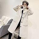 Жіноча штучна шуба комір стійка, фото 3