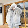 Свободное плюшевое мехового пальто для женщин, толстая шуба с капюшоном, средней длины 2 цвета