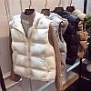 Женская короткая жилетка с капюшоном, модный жилет 4 цв