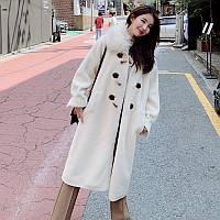 Меховое пальто с искусственным мехом  5 расцветок, фото 1