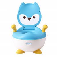 Детский горшок Babyhood Лисица голубой (BH-113LB)