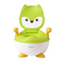 Детский горшок Babyhood Лисица зеленый (BH-113LG)