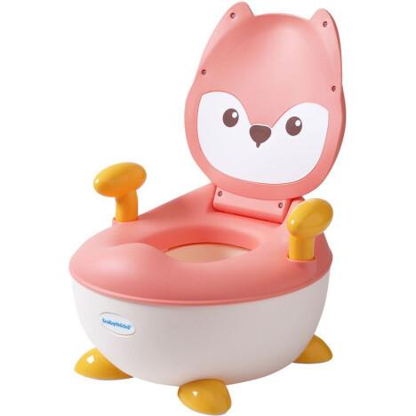 Детский горшок Babyhood Лисица розовый (BH-113LP)