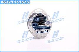 Лампа накаливания H4 12V 60/55W WhiteVision ULTRA +60 (4200K) (компл) (производство  Philips)  12342WVUSM