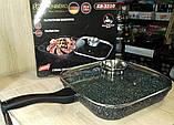 Сковорода-гриль с крышкой, 28см фирмы Edenberg EB-3310, фото 9