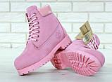 Женские зимние ботинки Timberland Pink женские ботинки тимберленд жіночі зимові черевики Timberland ботінки, фото 5