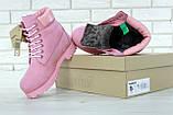 Женские зимние ботинки Timberland Pink женские ботинки тимберленд жіночі зимові черевики Timberland ботінки, фото 6