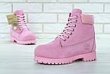 Женские зимние ботинки Timberland Pink женские ботинки тимберленд жіночі зимові черевики Timberland ботінки, фото 9