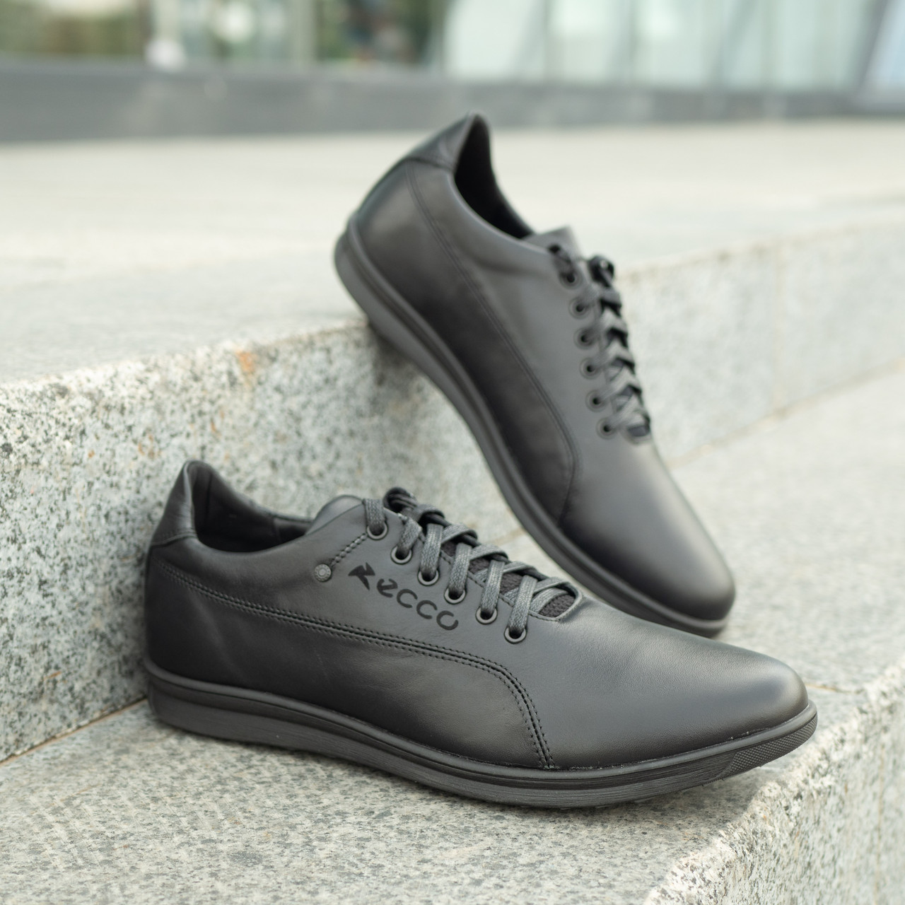 Мужские кожаные туфли   39-46 чёрный