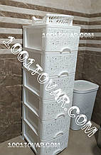 Комод пластиковый Ажур белый, на 6 ящиков. Efe (Эфе) Украина
