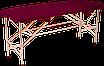 """Складная косметологическая кушетка Автомат Эко-Кожа 185*60*75 """"Эконом"""", фото 7"""
