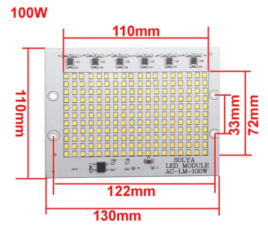 Smart IC SMD LED 90-100w 3000K Светодиодная сборка + Драйвер