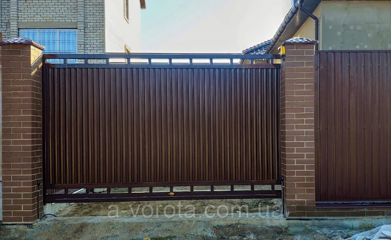 Консольні ворота TM Hardwick ш3400 в2000(дизайн Преміум)