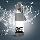 Бутылка ДЛЯ ОЩЕЛАЧИВАНИЯ  воды (устройство + картридж)  комплект PH Balance Stones,обьем 650 мл, фото 3