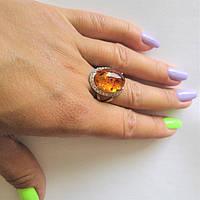 Кольцо серебряное с Янтарём Шанте, фото 1