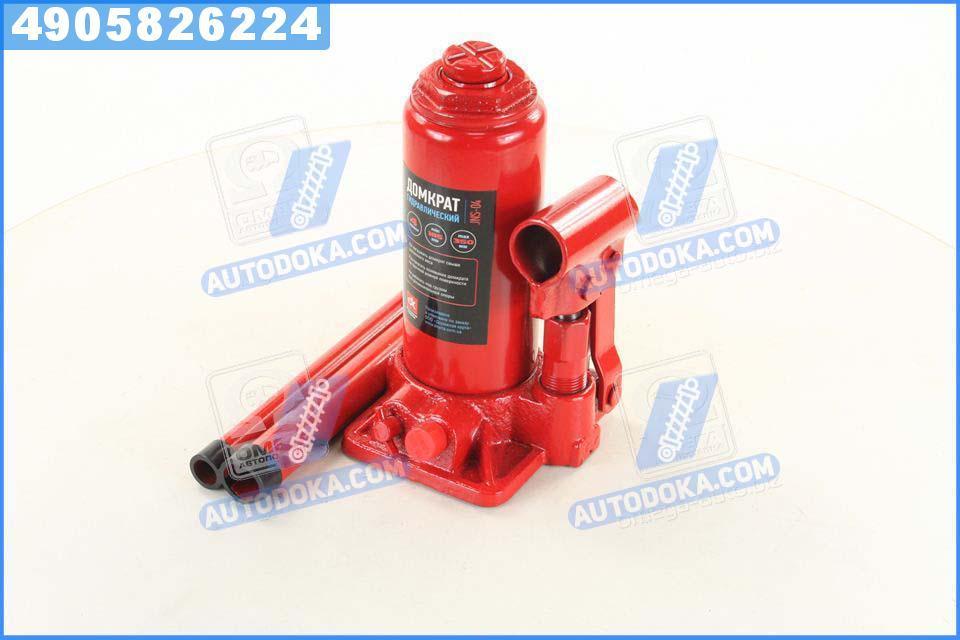 Домкрат бутылочный, 4т, красный H=185/350 (Дорожная Карта)  JNS-04