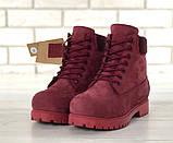 Женские зимние ботинки Timberland Bordo женские ботинки тимберленд жіночі зимові черевики Timberland боітнки, фото 2