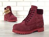 Женские зимние ботинки Timberland Bordo женские ботинки тимберленд жіночі зимові черевики Timberland боітнки, фото 4