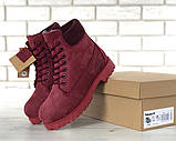 Женские зимние ботинки Timberland Bordo женские ботинки тимберленд жіночі зимові черевики Timberland боітнки, фото 5
