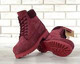 Женские зимние ботинки Timberland Bordo женские ботинки тимберленд жіночі зимові черевики Timberland боітнки, фото 6