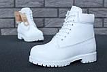 Женские зимние ботинки Timberland White женские ботинки тимберленд жіночі зимові черевики Timberland ботінки, фото 2