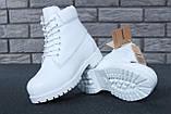 Женские зимние ботинки Timberland White женские ботинки тимберленд жіночі зимові черевики Timberland ботінки, фото 5