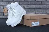 Женские зимние ботинки Timberland White женские ботинки тимберленд жіночі зимові черевики Timberland ботінки, фото 6