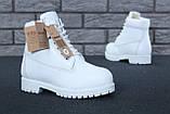 Женские зимние ботинки Timberland White женские ботинки тимберленд жіночі зимові черевики Timberland ботінки, фото 7